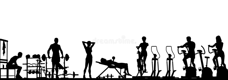 pierwszoplanowy gym royalty ilustracja