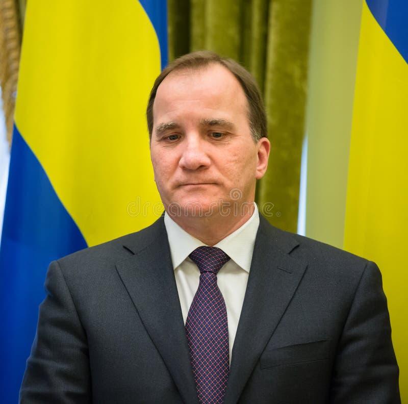 Pierwszorzędny minister królestwo Szwecja Stefan Lofven obraz royalty free