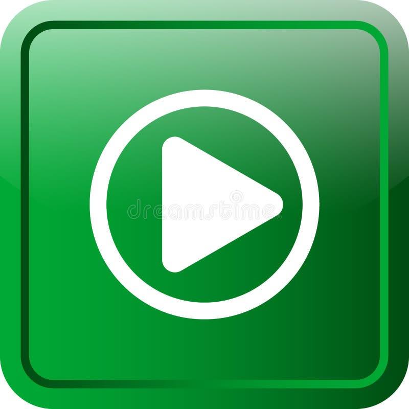 Pierwszorzędny wideo sieć guzik ilustracja wektor