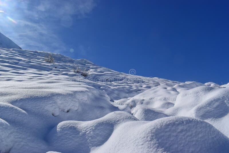 Pierwszy śnieg w Allgäu górach obraz royalty free