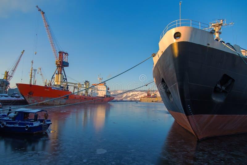 Pierwszy atomowy wspomagany energią jądrową icebreaker Lenin zdjęcia stock
