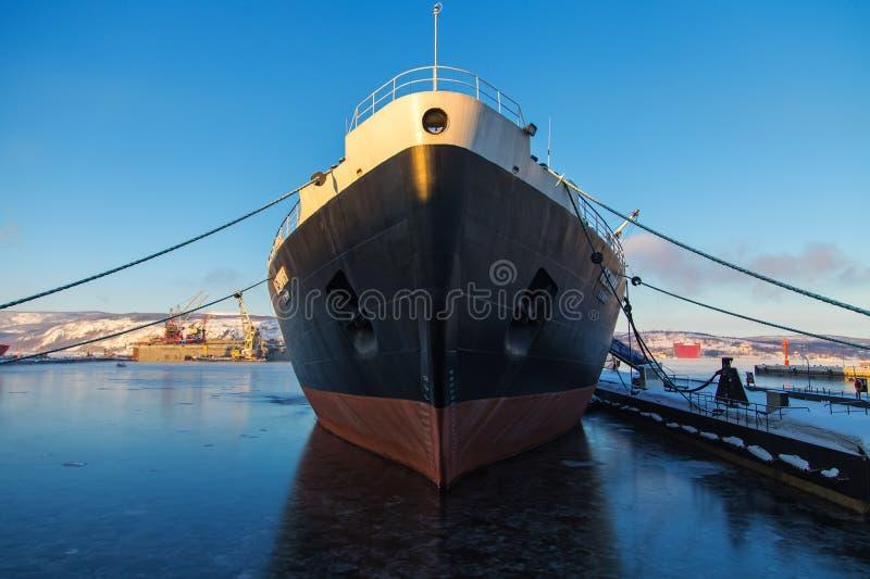 Pierwszy atomowy wspomagany energią jądrową icebreaker Lenin fotografia royalty free