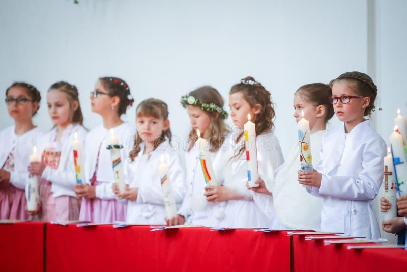 Pierwszy communion obrazy royalty free