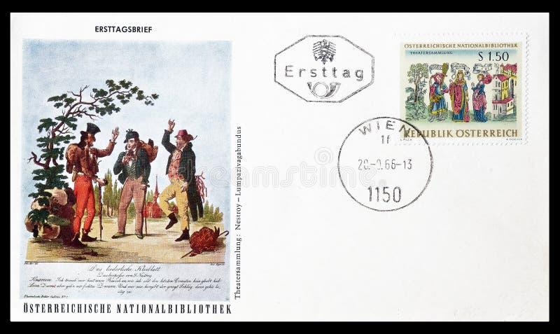 Pierwszy dnia Okładkowy list drukujący Austria obrazy royalty free