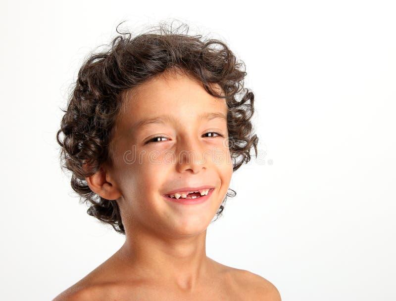 Pierwszy dziecka dojni lub chwilowi zęby spadają out obraz stock