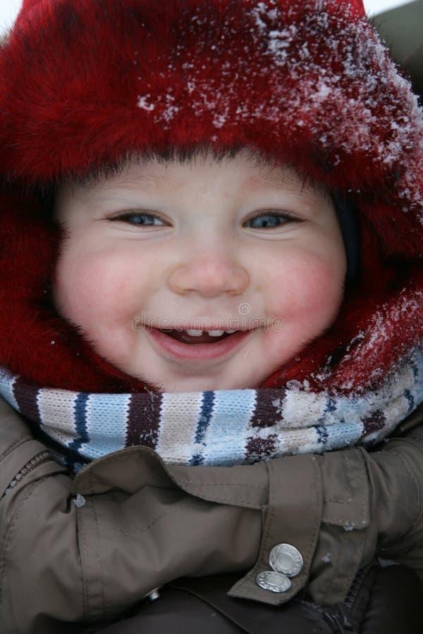 pierwszy dziecko zima zdjęcie royalty free