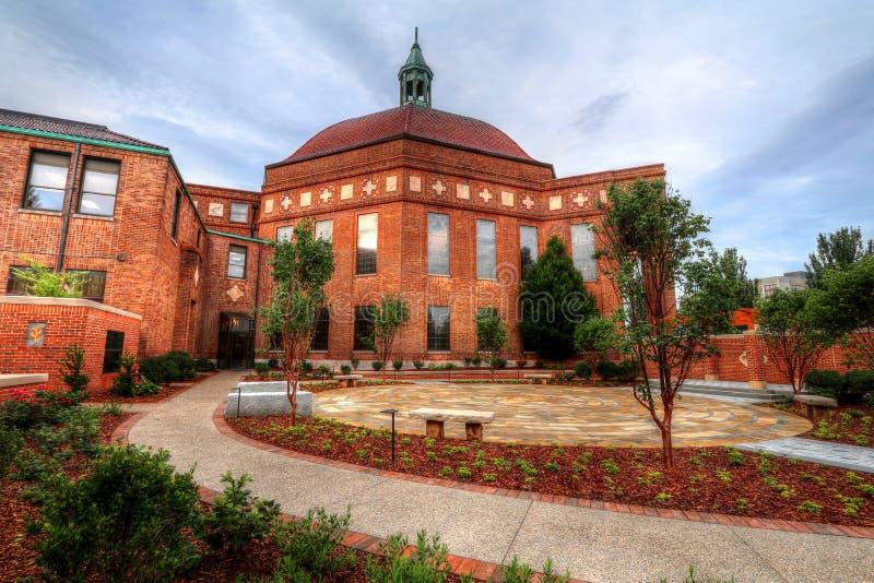 Pierwszy kościół baptystów Święty Ogrodowy Asheville Pólnocna Karolina zdjęcia stock