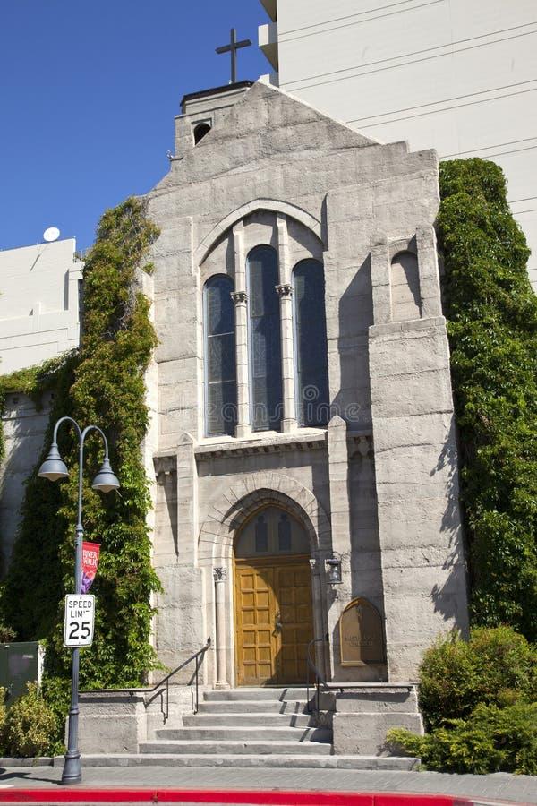 Pierwszy Kościół Metodystów, Reno NV. obraz stock