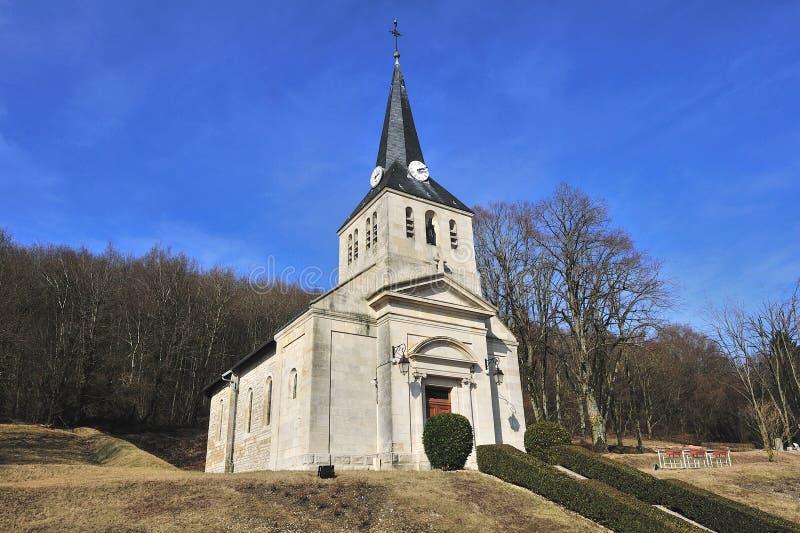 pierwszy kościół vauquois war świat zdjęcie stock