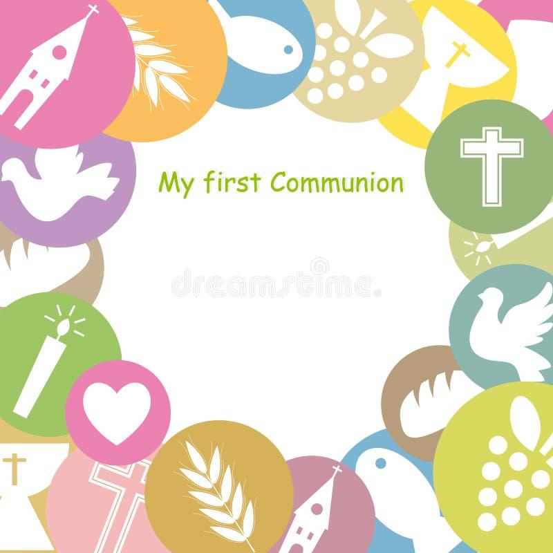 Pierwszy komunia ilustracja wektor