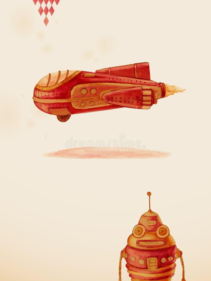 Pierwszy lot. Zabawki. royalty ilustracja