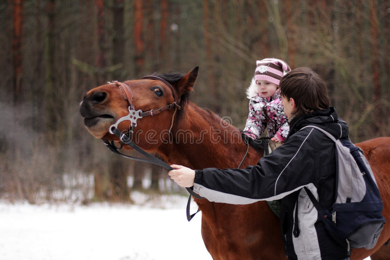 pierwszy mały jeździec doświadcza obrazy royalty free