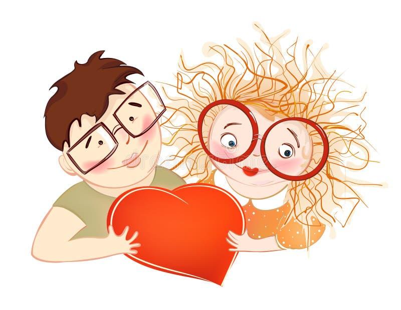 pierwszy miłość royalty ilustracja