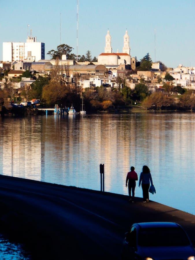 pierwszy miasteczko Argentyna: Carmen De Patagones obraz royalty free