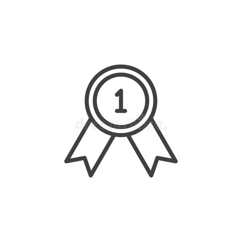 Pierwszy miejsce nagrody linii ikona ilustracja wektor