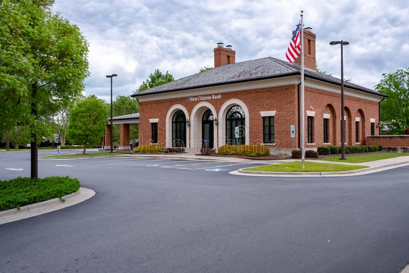 Pierwszy mieszkana bank Main Street obrazy royalty free