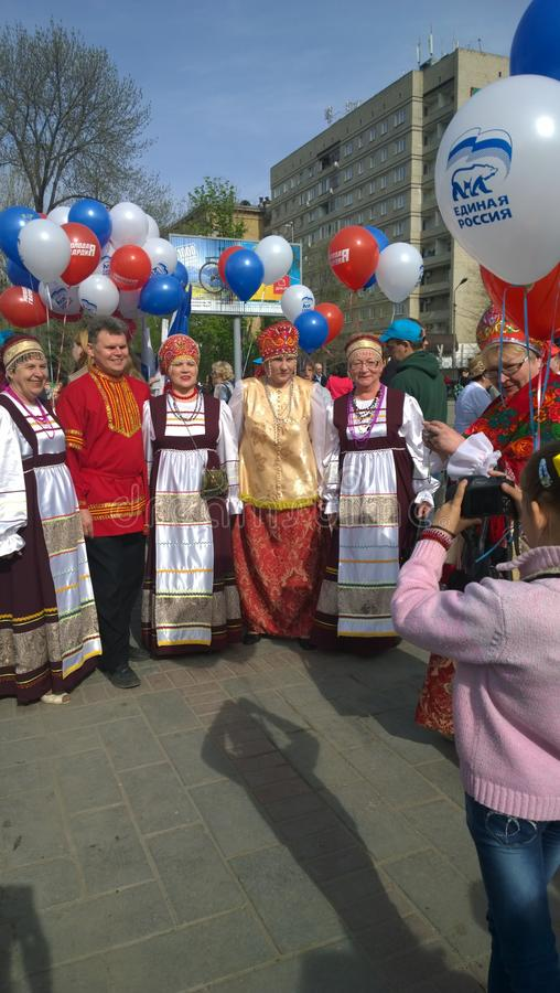 Pierwszy mogą w federacja rosyjska wakacje wiośnie zdjęcia stock