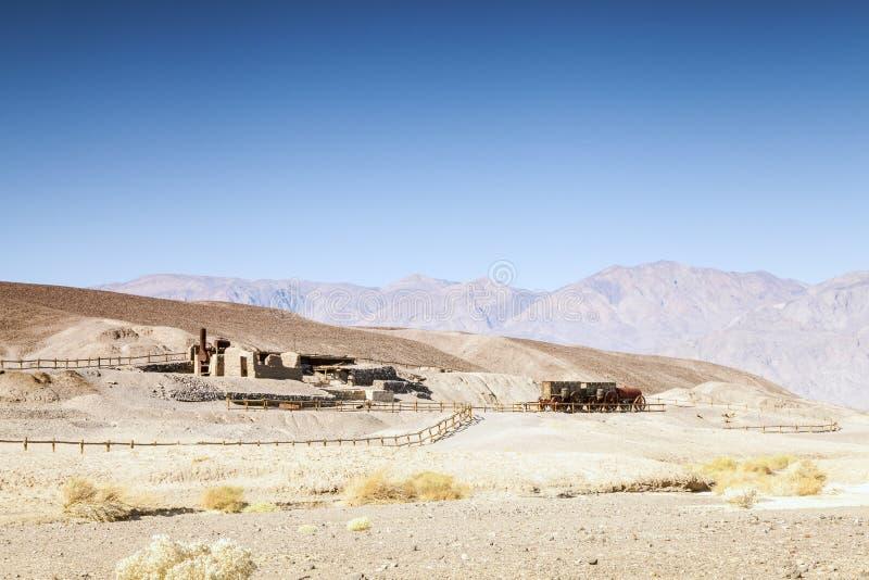 Pierwszy osadnicy domowi w Śmiertelnej dolinie, usa zdjęcie royalty free