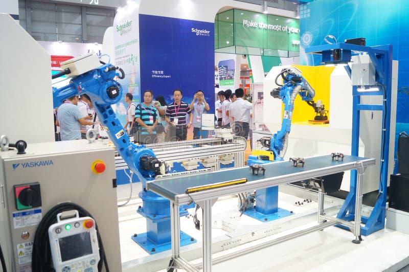 Pierwszy Porcelanowy mądrze wyposażenie przemysłu expo, trzymający w Shenzhen konwenci i Powystawowym centrum fotografia stock