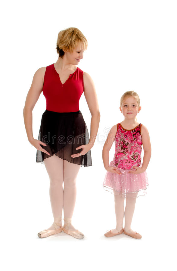 Pierwszy pozyci tana ucznia Baletnicza lekcja zdjęcie stock
