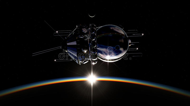 pierwszy statek kosmiczny ilustracji
