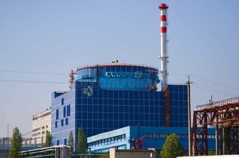 Pierwszy władzy jednostka jest Khmelnitsky Atomowy Stacyjny Ukraina obrazy stock