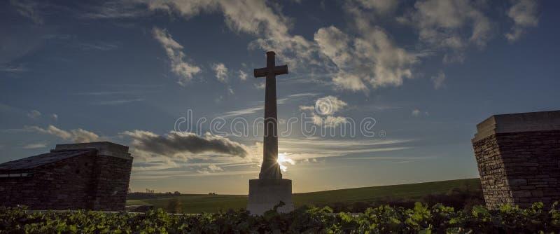 Pierwszy wojny światowa battlefeild Somme, Francja zdjęcie royalty free