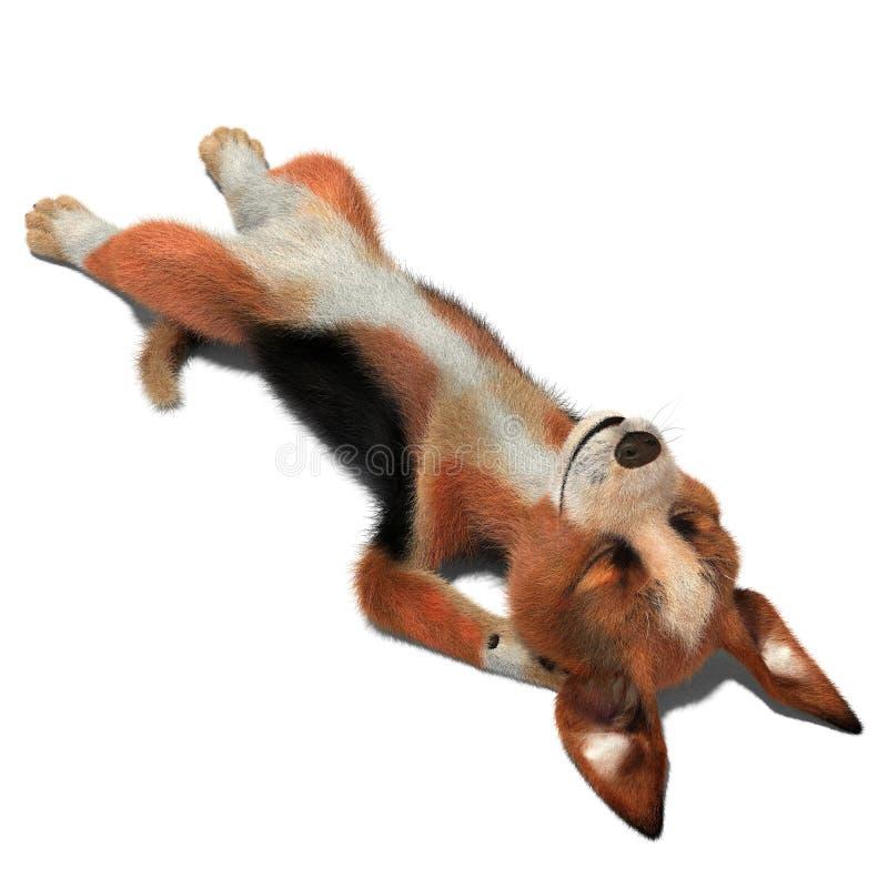 Pies śpi na podłoga ilustracja wektor