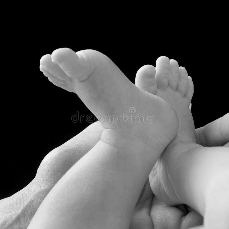 Pies 2 del bebé imagen de archivo libre de regalías