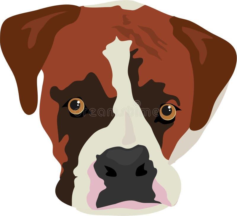 pies boksera ilustracji