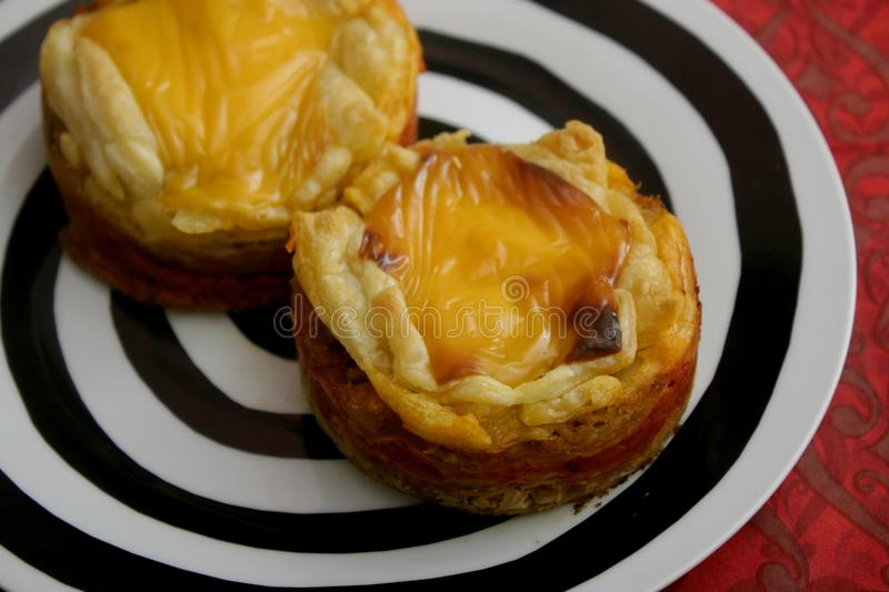 Pies with cheese and tuna fish. Some pies with tuna fish, cheese and paprika stock photography
