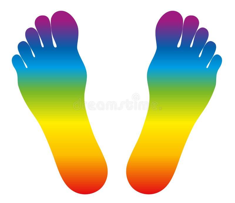 Pies de arco iris coloreado libre illustration