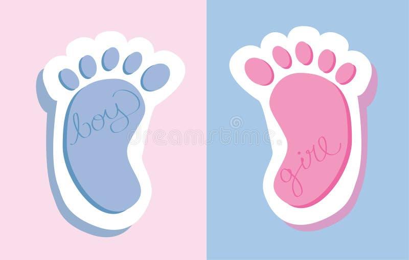 Pies del bebé stock de ilustración