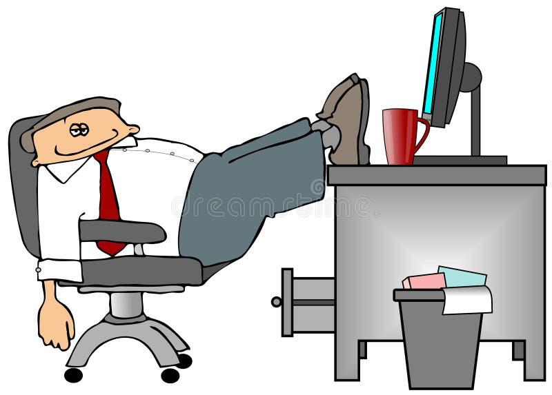 Pies en el escritorio libre illustration