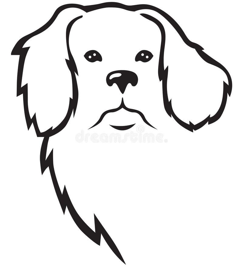 Pies głowa ilustracji