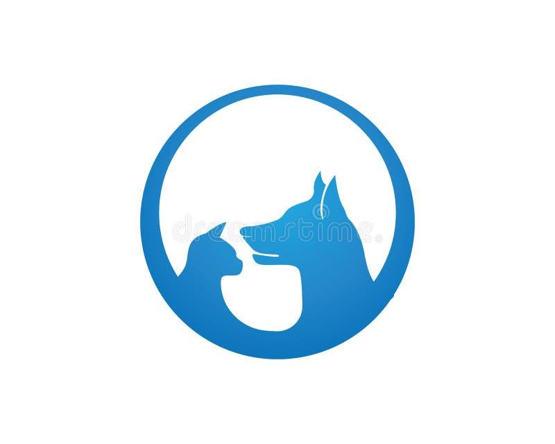 Pies i kot zwierzęcy symbole i loga szablonu ikony app ilustracji