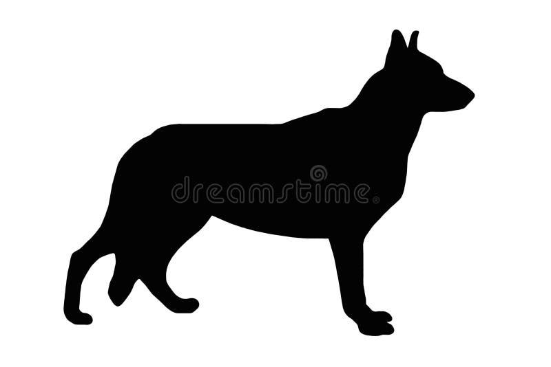 pies ilustrujący znak royalty ilustracja