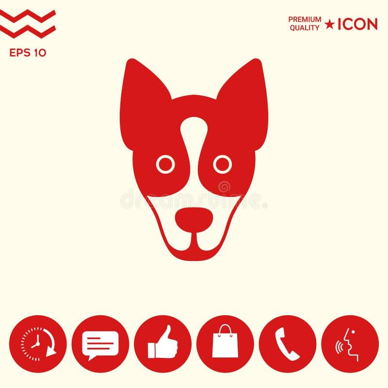 Pies - logo, symbol, gacenie znak royalty ilustracja