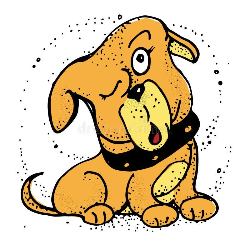 Pies myśl coś Plakat, koszulka skład, handmade druk ilustracja wektor