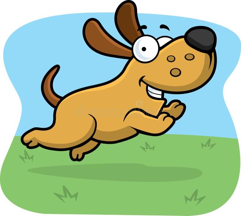 pies skacze royalty ilustracja