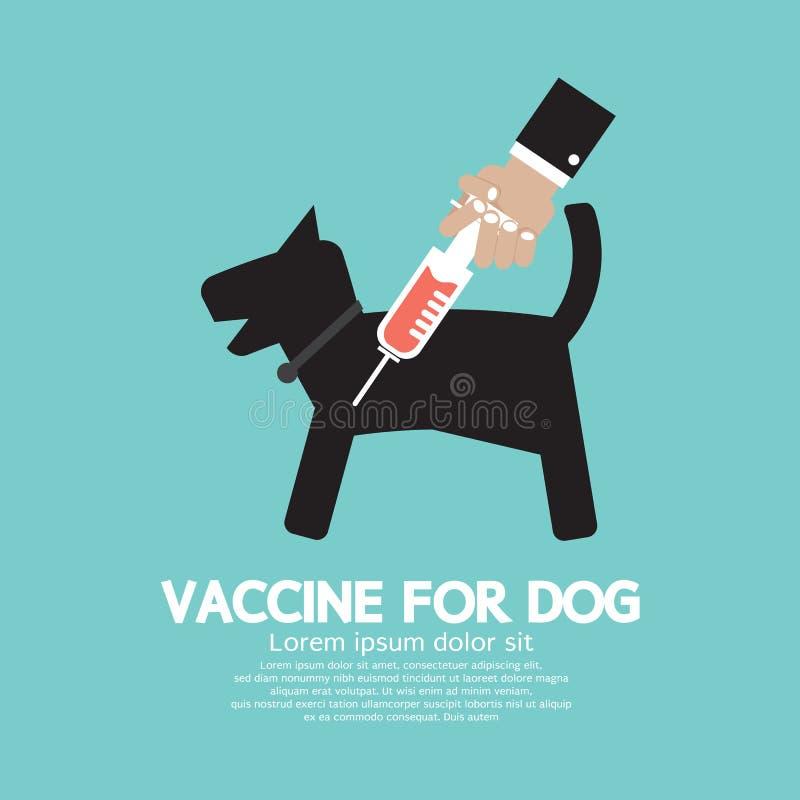 Pies szczepionka Zapobiegać chorobę ilustracja wektor
