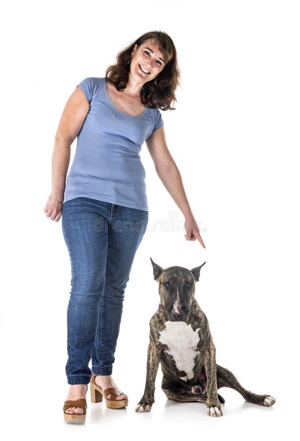 Pies, właściciel i posłuszeństwo, obraz royalty free