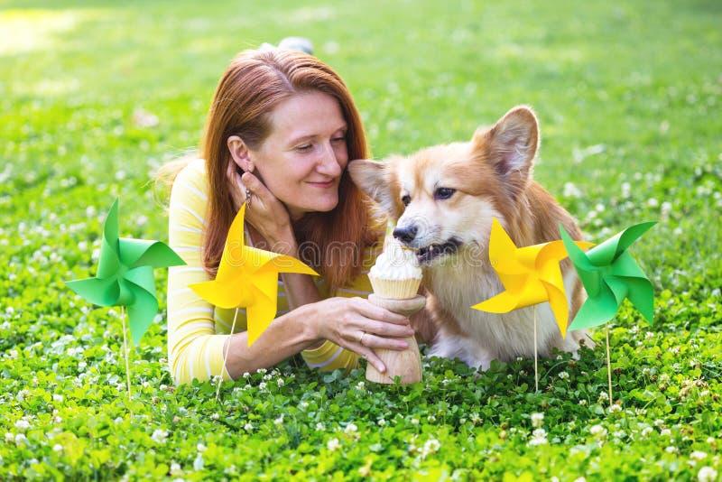 Pies w rodzinie obraz royalty free