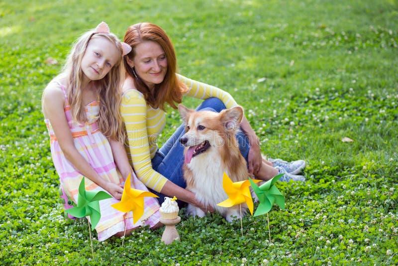 Pies w rodzinie zdjęcie royalty free