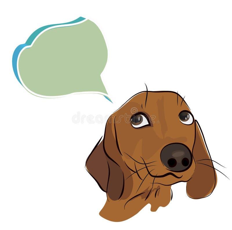 Pies z główkowanie chmurą royalty ilustracja