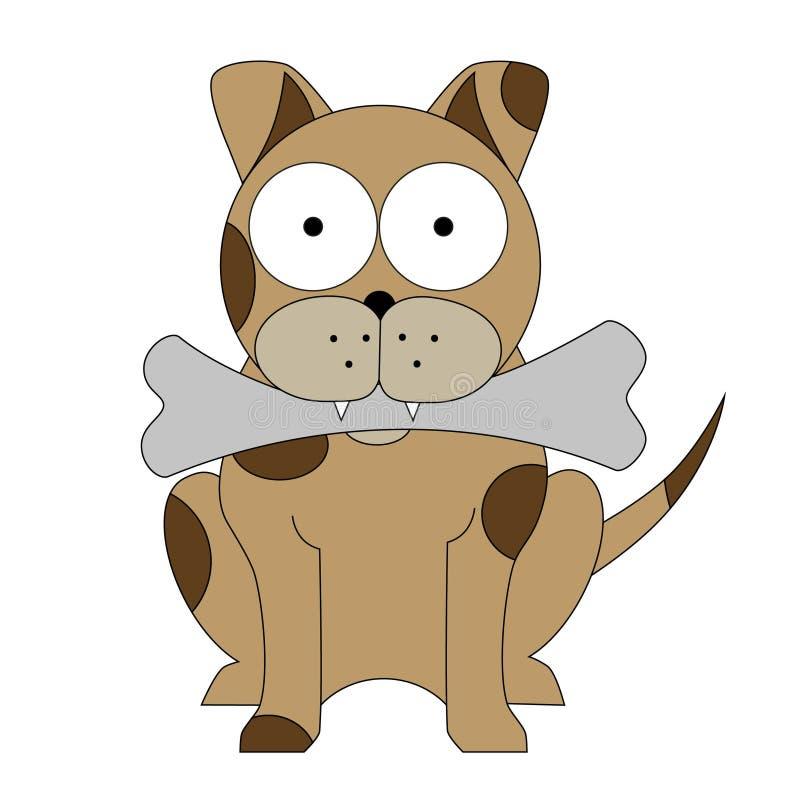 Pies z ko?ci kresk?wki wektorowym clipart royalty ilustracja