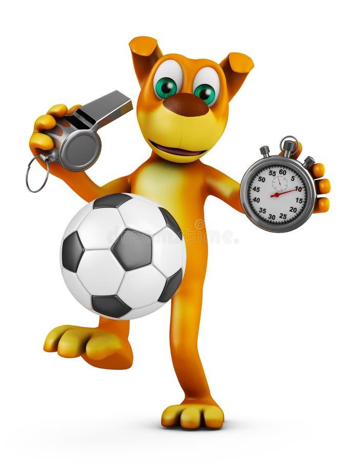 Pies z piłki nożnej piłką ilustracja wektor