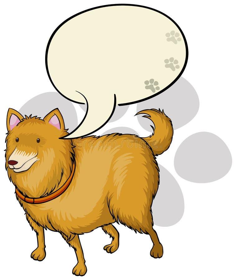 Pies z pustym callout szablonem royalty ilustracja
