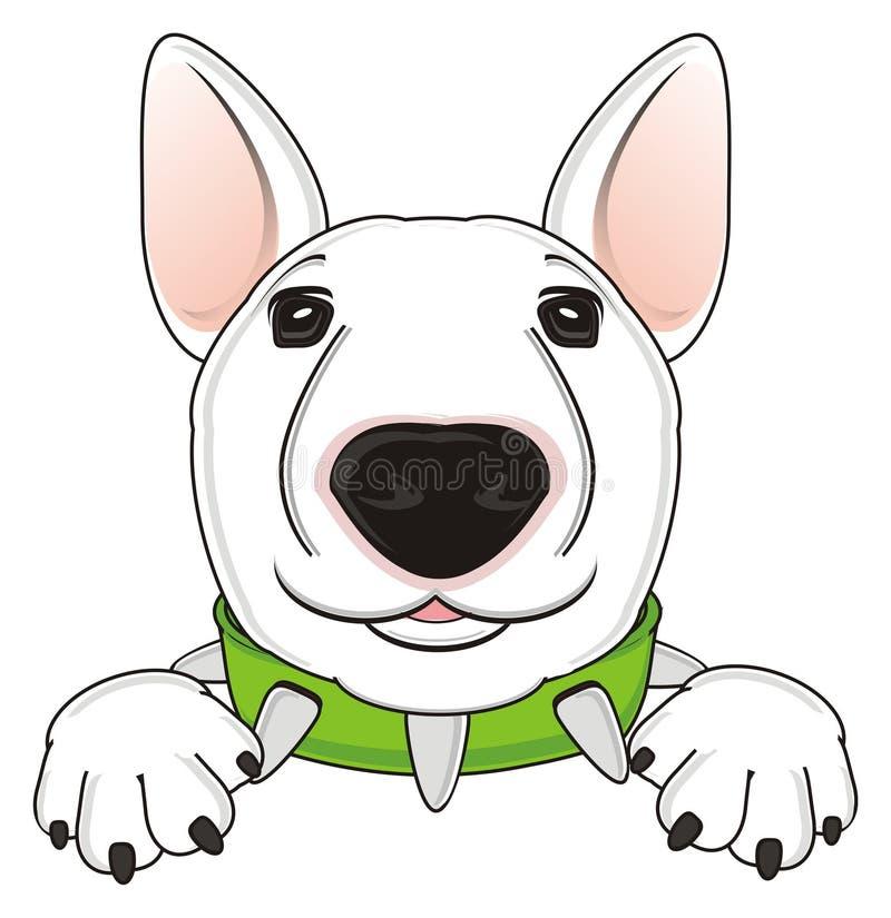 Pies z zielonym kołnierzem ilustracja wektor