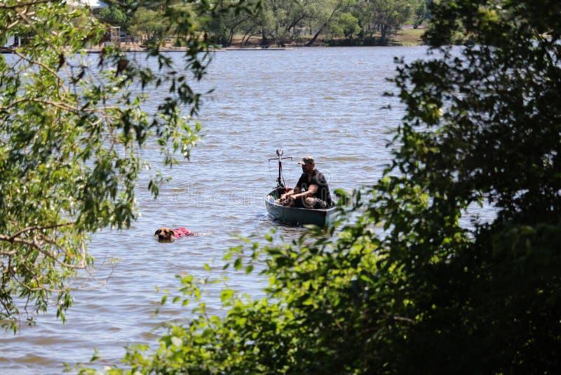Pies zasilana łódź zdjęcie stock